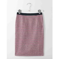 British Tweed Pencil Skirt Fallen Fruit Prince of Wales Women Boden, Pink