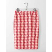 Freya Pencil Skirt Red and Pink Check Women Boden, Pink