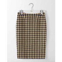 Freya Pencil Skirt Navy and Yellow Check Women Boden, Navy