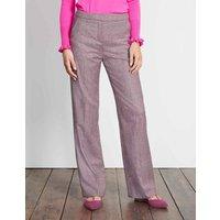 British Tweed Wideleg Trousers Pink Women Boden, Pink