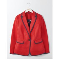 Picardy Tipped Blazer Red Women Boden, Red