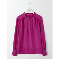 Ella Silk Blouse Fallen Fruit Women Boden, Purple