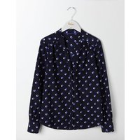 Olive Blouse Blues Mini Shadow Spot Women Boden, Navy
