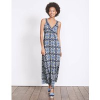 Twist Front Jersey Maxi Dress Blue Women Boden, Blue