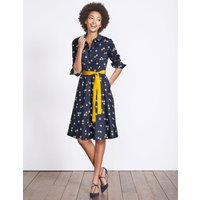 Posy Shirt Dress Navy Sunset Swallow Women Boden, Navy