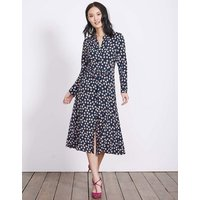 Jessica Dress Navy Polka Floral Women Boden, Navy