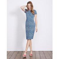 Phoebe Jersey Dress Blue Women Boden, Blue