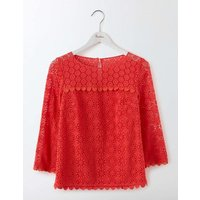 Poppy Lace Top Pink Women Boden, Pink