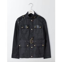 Fitted Waxed Jacket Navy Women Boden, Blue