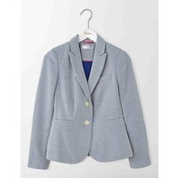 Elizabeth British Tweed Blazer Imperial Blue Women Boden, Navy