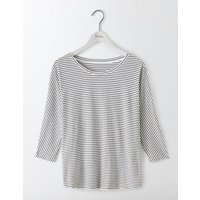 Supersoft Oversized Tee Ivory/Navy Women Boden, Multi
