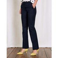 Richmond Bootcut Trousers Navy Women Boden, Blue
