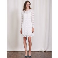 Floral Lace Dress Ivory Women Boden, Natural