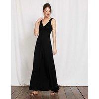 Twist Front Jersey Maxi Dress Black Women Boden, Black