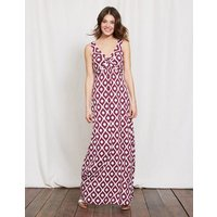 Twist Front Jersey Maxi Dress Purple Women Boden, Purple