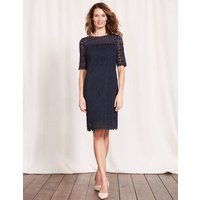 Poppy Lace Dress Navy Women Boden, Navy