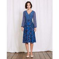 Eden Wrap Dress Blue Women Boden, Blue