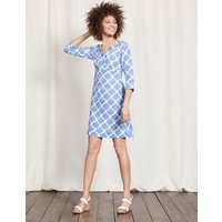 Casual Linen Tunic Blue Women Boden, Blue