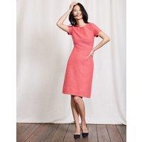 Sylvie Seamed Dress Mid Pink/Dahlia Red Women Boden, Pink