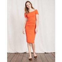 Off Shoulder Ruched Dress Tulip Women Boden, Red