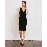 Crossover Ruched Dress Black Women Boden, Black