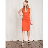 Crossover Ruched Dress Red Women Boden, Red