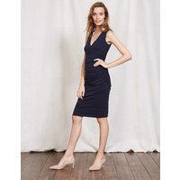 Crossover Ruched Dress Navy Women Boden, Navy