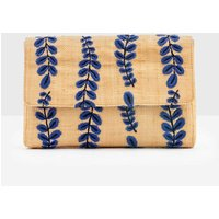Caterina Embroidered Clutch Natural Women Boden, Natural