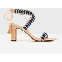 Caterina Embroidered Heels Natural Women Boden, Natural
