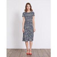 Portia Jersey Dress Navy Blossom Spot Women Boden, Navy