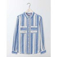 The Linen Shirt Blue Women Boden, Multicouloured