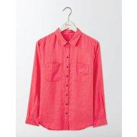 The Linen Shirt Pink Women Boden, Pink