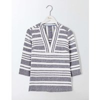 Rosemary Top Navy and Ivory Stripe Women Boden, Navy