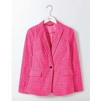 Broderie Blazer Pink Women Boden, Pink