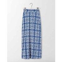 Jersey Maxi Skirt Imperial Blue Woodblock Women Boden, Blue