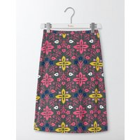 Printed Cotton A-Line Skirt Marsh Collage Print Women Boden, Green