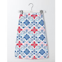 Printed Cotton A-Line Skirt Ivory Collage Print Women Boden, Ivory