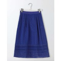 Althea Lace Skirt Imperial Blue Women Boden, Navy