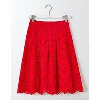 Isadora Broderie Skirt Snapdragon Women Boden, Red