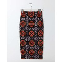 Greta Pencil Skirt Multi Lace Women Boden, Navy