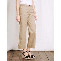 Rachel Wide Crop Chino Trouser Natural Women Boden, Natural