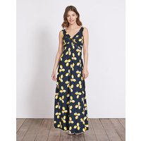 Twist Front Jersey Maxi Dress Navy Women Boden, Navy