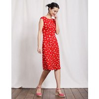 Marina Jersey Dress Snapdragon Large Confetti Women Boden, Red
