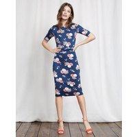 Terese Jersey Dress Imperial Blue Blossom Pop Women Boden, Blue