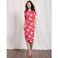 Terese Jersey Dress Summer Poppy Blossom Pop Women Boden, Pink
