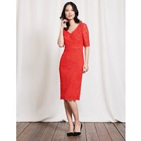 Carin Lace Dress Red Women Boden, Red