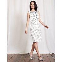Penelope Dress Ivory Women Boden, Ivory