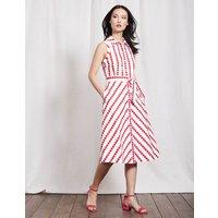 Clemmie Shirt Dress Camellia Spot Stripe Women Boden, Pink