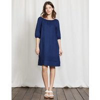Henrietta Linen Dress Navy Women Boden, Navy