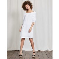 Henrietta Linen Dress White Women Boden, White
